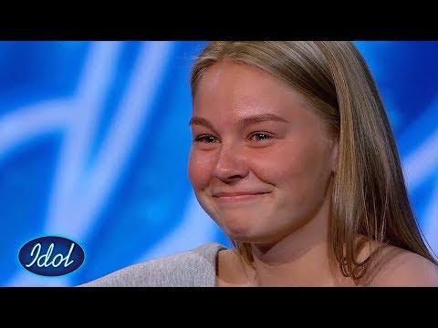 Caroline får sesongens første dommer-gruppeklem etter sin nydelige audition | Idol Norge 2018