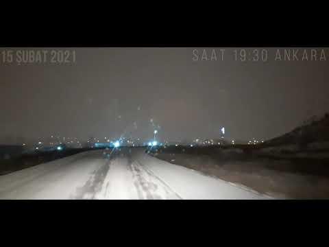 Ankara'da kar yağışı ve trafik durumu MGM Son dakika Kar yağışı - Kaza videoları - Yol videoları