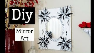 Diy Wall Mirror Decor Recycling Using Forks and Boxes!!!