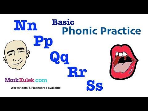 Basic Phonic Sounds - Nn Pp Qq Rr Ss | English Pronunciation Practice | ESL
