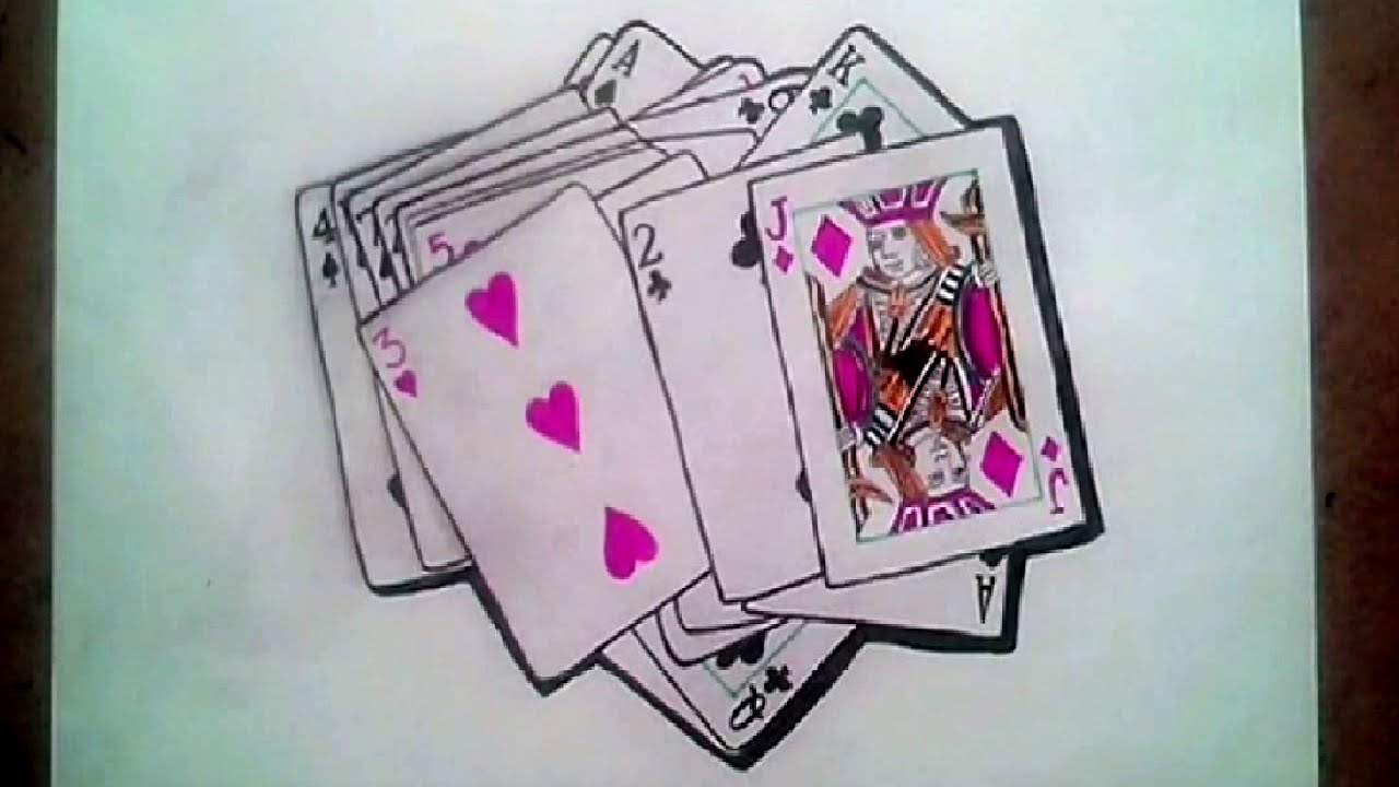 3d Playing Card Poker How To Draw Youtube