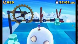 Sonic Lost World (3DS) - Frozen Factory Zone 3 (S-Rank)