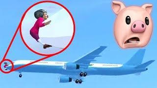 HELLO NEIGHBOR'S SISTER GOT HIT BY A PLANE?? | Scary Teacher 3D FLIGHT CLUB (Easter Update)