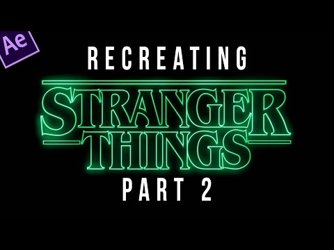 Stranger Things Title Sequence Animation Tutorial - PART 2 of 4
