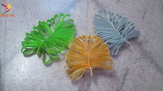 Decorative Leaves Making|Easy Paper Crafts For Kids Step By Step| DIY Leaves Making Instructions