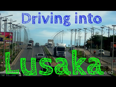 LUSAKA, Drive in from Kabwe