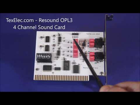 New from TexElec.com! Resound OPL3 - 4 Channel 8-bit ISA Sound Card