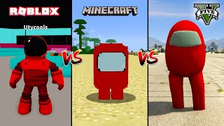 GTA 5 AMONG US VS MINECRAFT AMONG US VS ROBLOX AMONG US - WHO IS BEST? Part 1