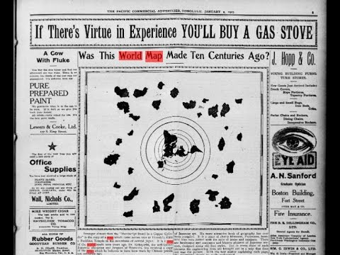 Flat Earth   A very different Flat Earth map in 1907 newspaper