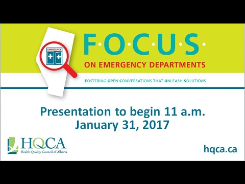 HQCA FOCUS on Emergency Departments Press Conference