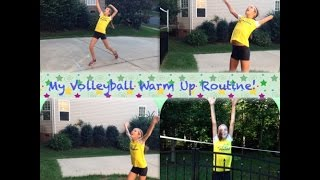 My Volleyball Warm-up Routine! (Stretches, Ball Drills, and Serves!)~AlexiLou42 Thumbnail