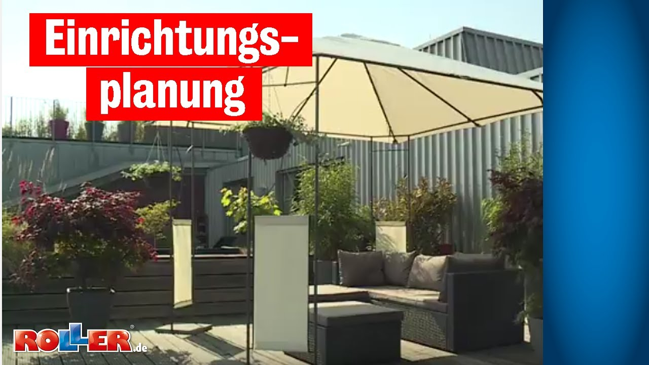 einrichtungsplanung terrasse einrichten youtube. Black Bedroom Furniture Sets. Home Design Ideas