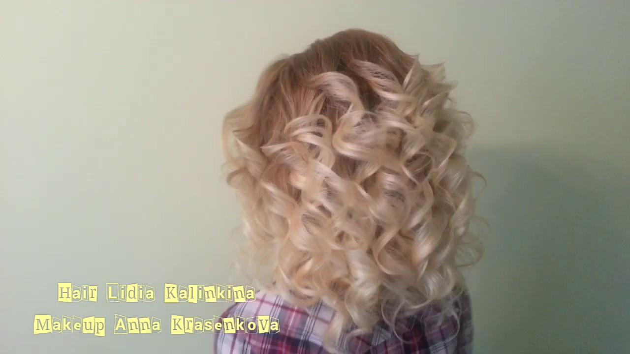 Как на средней длины волосы сделать объемные кудри