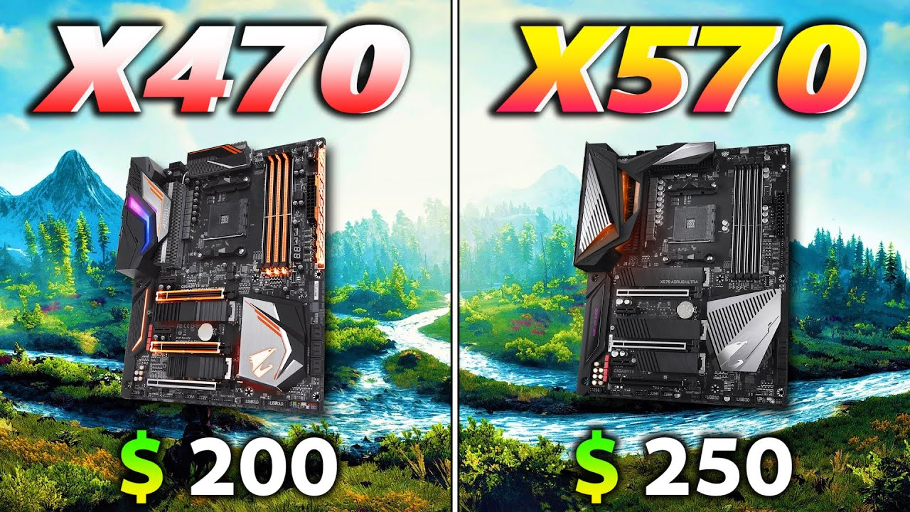 Amd X470 Vs Amd X570 Motherboard Is There Any Difference In Pc Gameplay Youtube