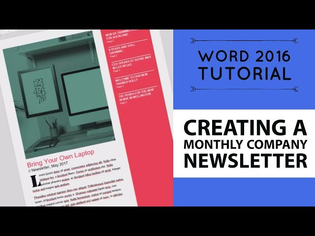 creating a monthly company newsletter word 2016 tutorial 11 52