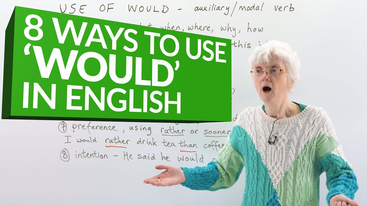 Download Learn English Grammar: How to use the auxiliary verb 'WOULD'