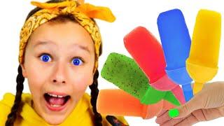La Canción de los Helados | Emi y Niki Sing-A-Along Ice Cream Song | Canciones Infantiles