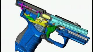 So Funktioniert eine echte Handwaffe !!!! 3D Animation (Walther P99) ___MUST SEE___