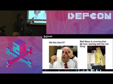 DEF CON 25 Voting Village - Harri Hursti - Brief history of election machine hacking