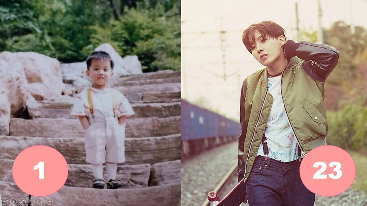 J Hope Bts Childhood From 1 To 23 Years Old Youtube