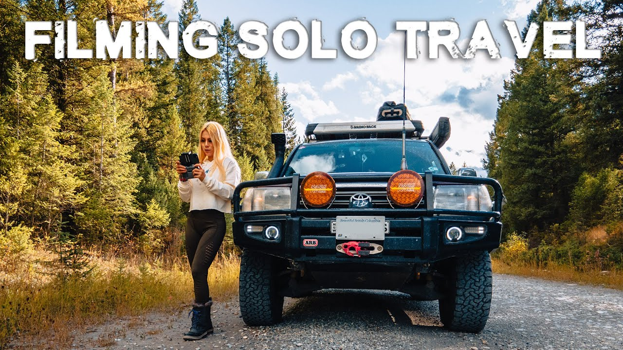 6 Tips How To Film Yourself | Female Solo Overland Travel Toyota Landcrusier