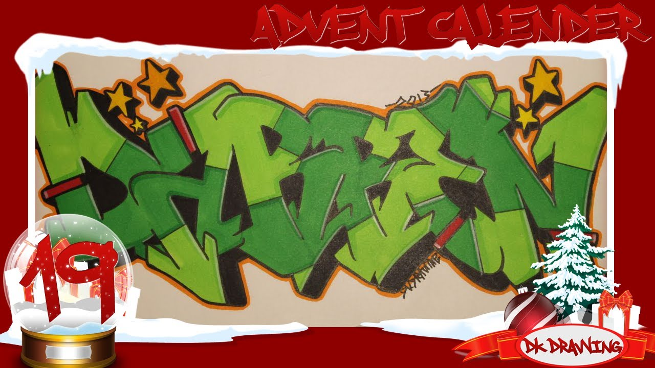 U Graffiti Letters Graffiti Advent Calend...