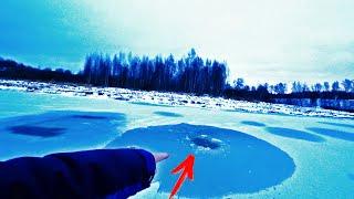 ЧП КОВАРНАЯ РЫБАЛКА Провалился под Лёд но Рыбу поймал