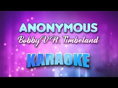 Bobby V Ft. Timbeland - Anonymous (Karaoke version with Lyrics)