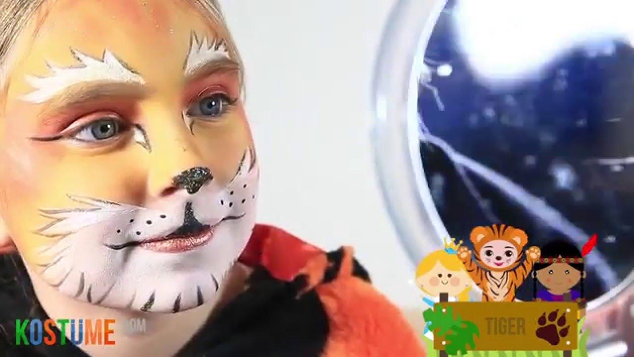 Tutorial Kinderschminken Tiger Youtube