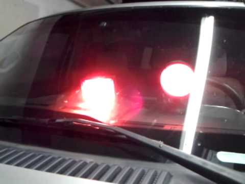 Whelen Single Dashmaster CA Steady RED And Stratolite RED Halogen Lights