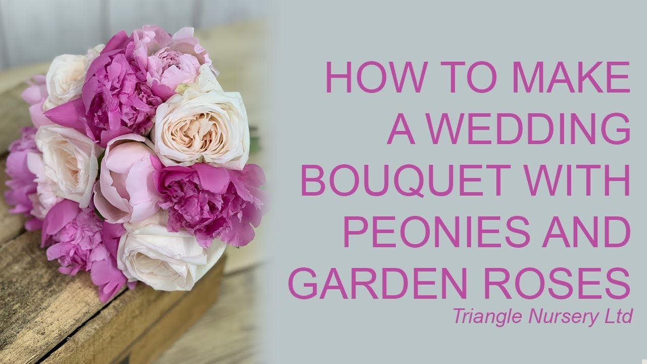 How To Make A Pink Peony And Garden Rose Wedding Bouquet   Wholesale  Flowers Direct