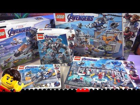 LEGO Builds ⏩ All Marvel Avengers Endgame Sets Compilation 76123 76124 76125 76126 76131
