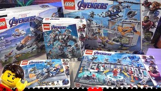 LEGO Builds ⏩ All Marvel Avengers Endgame sets compilation 76123 76124 76125 76126 76131