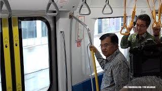 Uji Coba MRT Jakarta, Wapres JK Minta Jarak Tempuh Ditambah 200 KM Dalam Waktu 10 Tahun