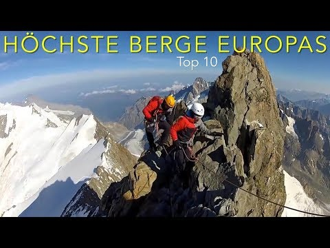 Climbing the highest mountains in Europe, Top 10
