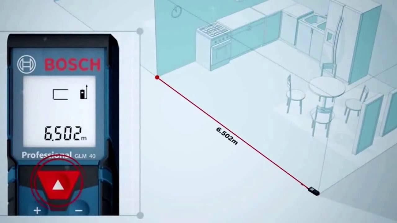 Bosch Entfernungsmesser Glm 40 : Bosch glm 40 laser distance measurer youtube