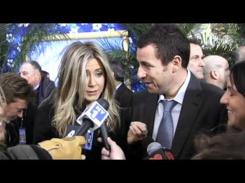 Jennifer Aniston Adam Sandler in awe of Brad Blanks - Just Go With It Premiere NYC