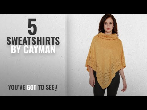 Top 10 Cayman Sweatshirts [2018]: Cayman Mustard Poncho Shrug