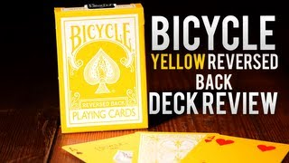 Deck Review - Bicycle Yellow Reversed Back Playing Cards
