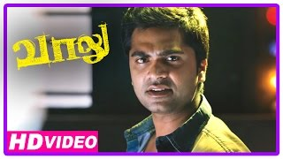 Vaalu Tamil Movie | Scenes | Simbu Fights With Goons At Railway Station | Hansika