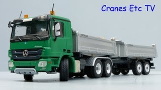 Conrad Mercedes-Benz Actros Meiller Tipper and Trailer by Cranes Etc TV
