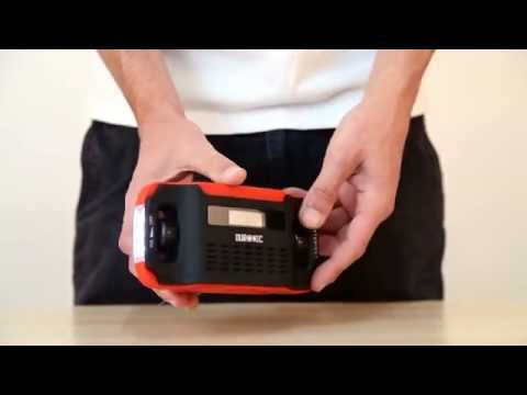 Duronic Apex Radio - Solar Powered, Wind up & Rechargeable AM\FM Radio.