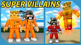 How To Be Super Villains in Roblox Mad City with my Little Nephew
