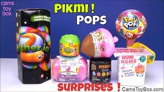 Toy Surprises Pikmi Pop Num Noms  Slitherio Pacman Woodzeez Kitty in my Pocket Little Sprouts