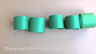How to make a paper craft Very Hungry Caterpillar