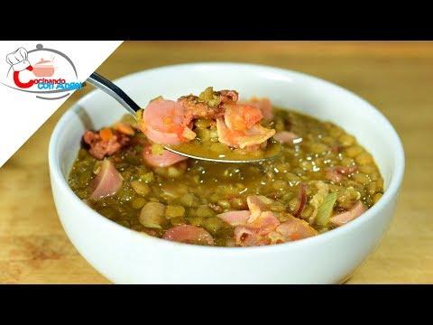Sopa de Lentejas con Tocino y Chorizo