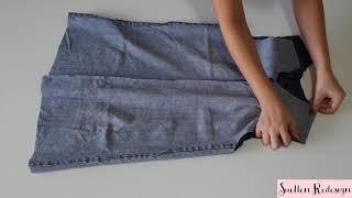 TRANSFORME CALÇA EM VESTIDO – VESTIDO FEITO DE CALÇA JEANS