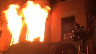 "FDNY BOX 1069 - ""PRE ARRIVAL"" RAW FOOTAGE OF FDNY BATTLING A 2ND ALARM FIRE ON WEST 76TH STREET, NYC"