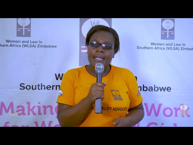 16 days of activism against gender based violence  in  Hopley Harare Zimbabwe - 2018