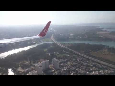 İSTANBUL - ADANA TÜRK HAVA YOLLARI İNİŞ - LANDING 4K VIDEO TURKISH AIRLINES ISTANBUL - ADANA